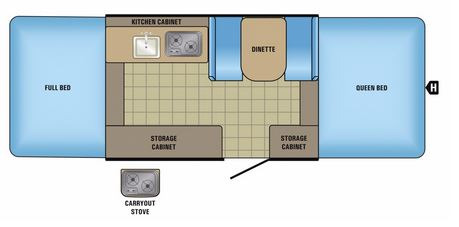 Floor Plan : 2017-JAYCO-10SD