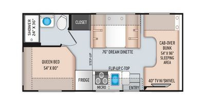 Floor Plan : 2020-THOR-22HEC