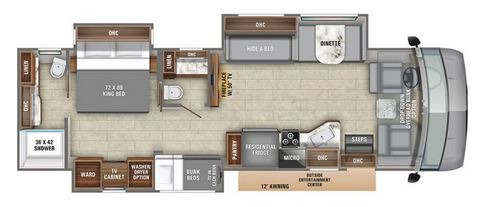 Floor Plan : 2020-ENTEGRA COACH-36T