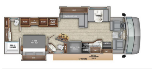 Floor Plan : 2020-ENTEGRA COACH-36U