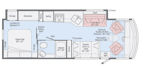 Floor Plan : 2020-WINNEBAGO-29V