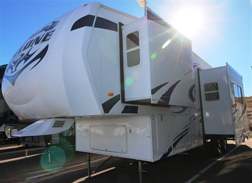 Used 2010 Heartland Cyclone 3010 Fifth Wheel Toyhauler For Sale