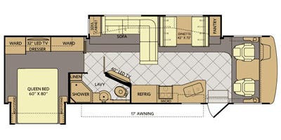 Floor Plan : 2014-FLEETWOOD-33C
