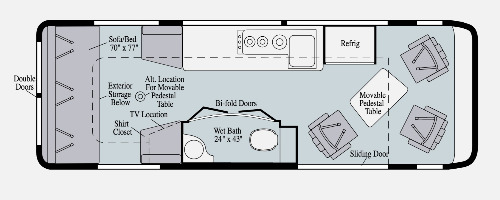 Floor Plan : 2020-WINNEBAGO-170B