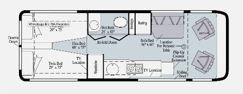Floor Plan : 2020-WINNEBAGO-170A