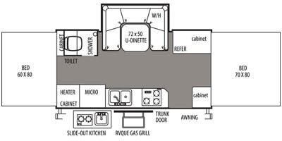 Floor Plan : 2014-FOREST RIVER-HW277