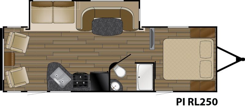 View Floor Plan for 2016 HEARTLAND PIONEER RL250