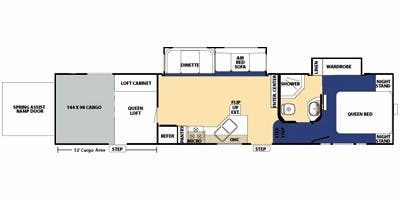 Floor Plan : 2010-FOREST RIVER-37X12SA