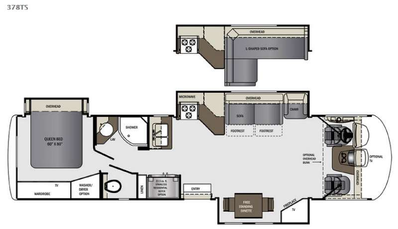 View Floor Plan for 2016 FOREST RIVER GEORGETOWN XL 378TS