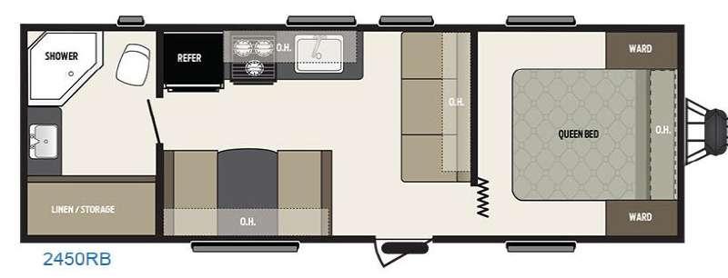 View Floor Plan for 2016 KEYSTONE SUMMERLAND 2450RB