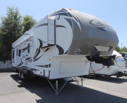 Used 2012 Keystone Cougar 32SRX Fifth Wheel Toyhauler For Sale