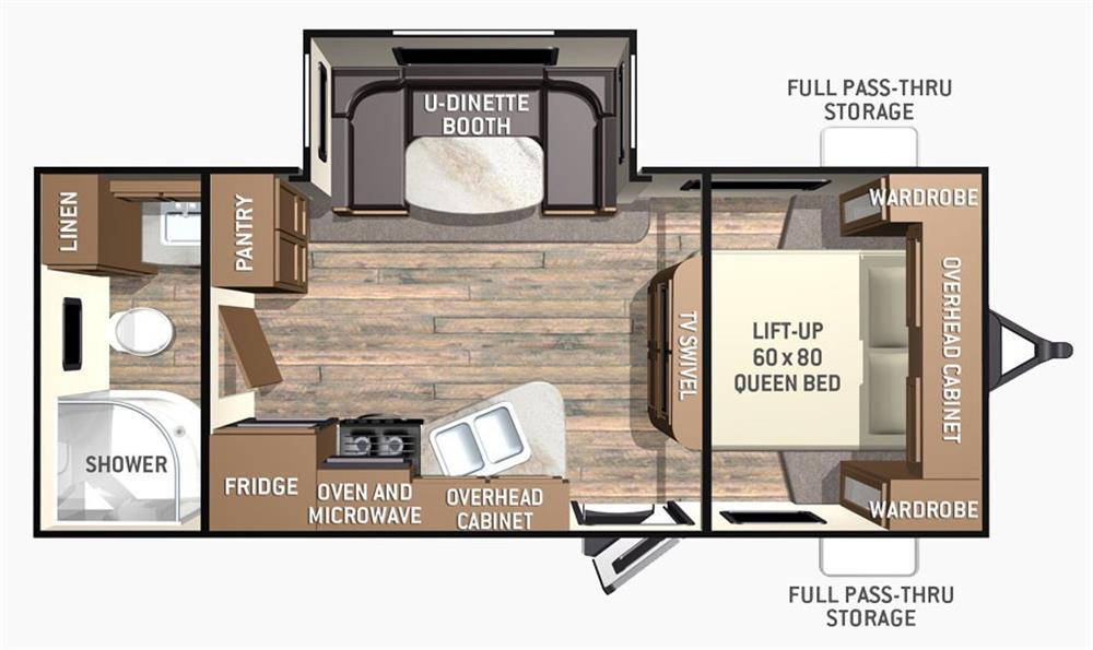 2016 cruiser rv fun finder 214wsd camping world of for Floor plan finder
