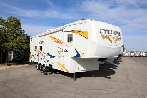 Used 2008 Heartland Cyclone 3210 Fifth Wheel Toyhauler For Sale