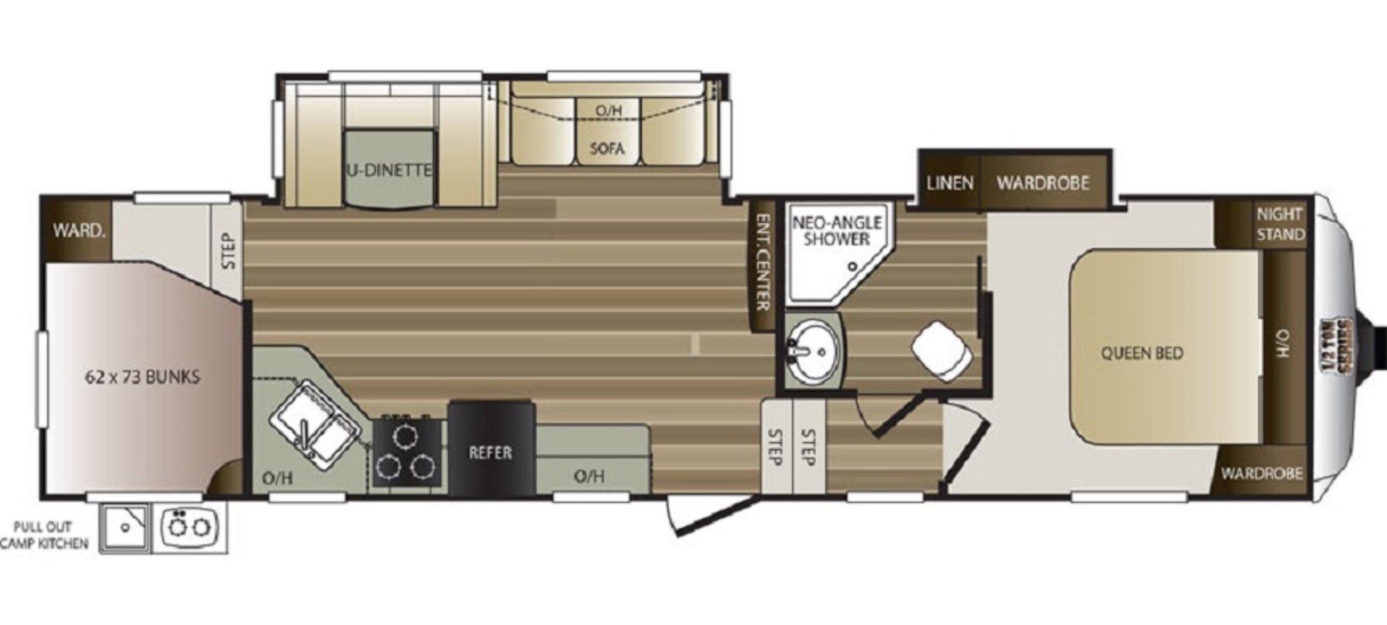 2017 Keystone Cougar 284rdbwe 1336535 on Keystone Bunkhouse Floor Plans