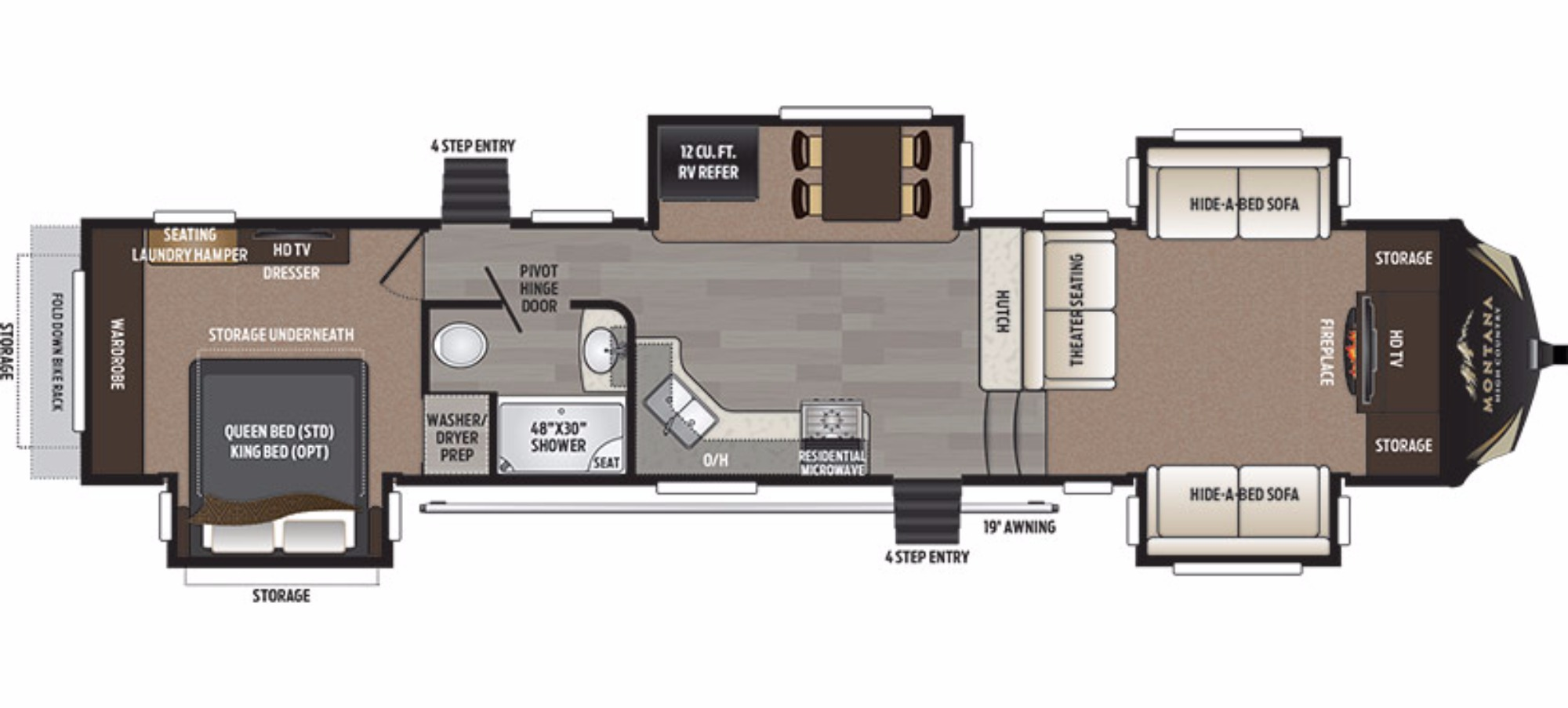 montana 5th wheel floor plans images 327res floor plan 5th montana high country s2939 4 in addition jayco eagle fifth floor plans