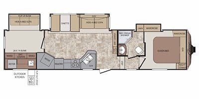 Floor Plan : 2014-KEYSTONE-330RBK