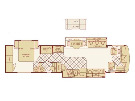 Floor Plan : 2005-FLEETWOOD-38X