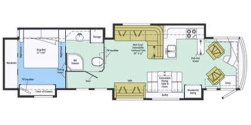 Floor Plan : 2013-WINNEBAGO-42GD