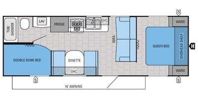 Floor Plan : 2015-JAYCO-264BHW