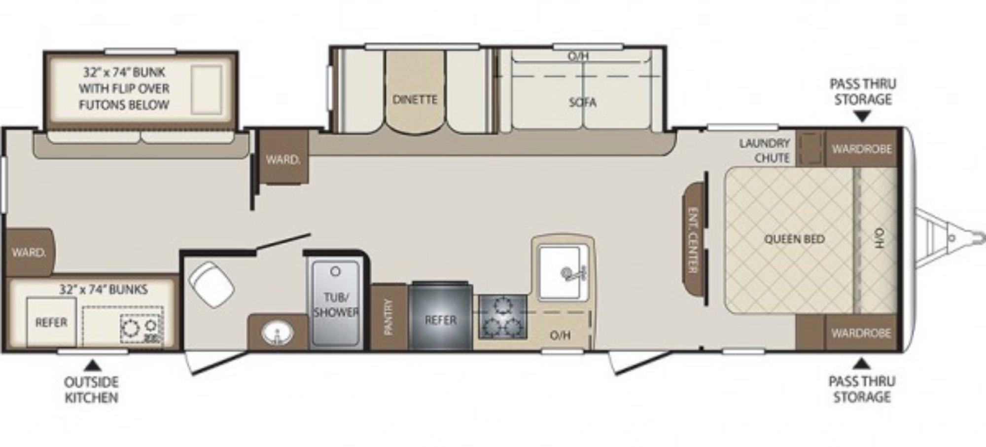 Heartland Rv Floor Plans 2017 Keystone Bullet 308bhs Camping World Of Kingston