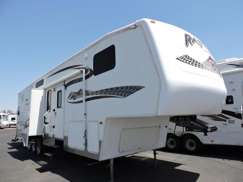 Used 2006 Keystone Raptor 3712 TS Fifth Wheel Toyhauler For Sale
