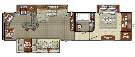 Floor Plan : 2015-GULF STREAM-32FRKT