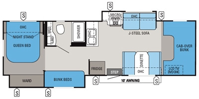 Floor Plan : 2014-JAYCO-31FS