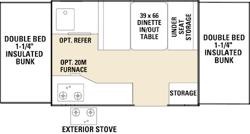 Floor Plan : 2005-COACHMEN-086-SPORT (*)