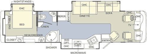Floor Plan : 2005-HOLIDAY RAMBLER-37PST FORD