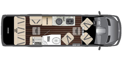 Floor Plan : 2016-AIRSTREAM-EXT LOUNGE
