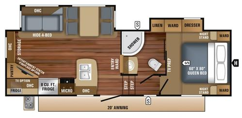Bedroom : 2019-JAYCO-25.5REOK