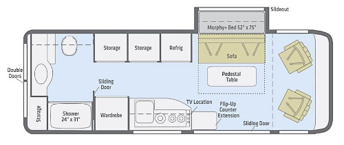 Floor Plan : 2019-WINNEBAGO-170M