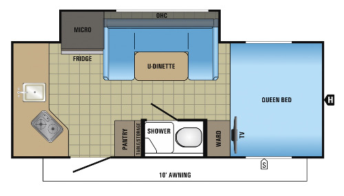 Floor Plan : 2017-JAYCO-17RK