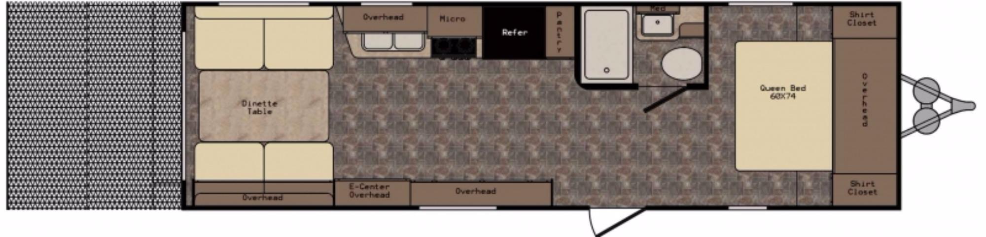 View Floor Plan for 2016 CROSSROADS Z-1 278RR