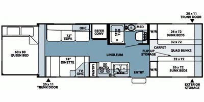 Travel Trailer Bunkhouse RVs For Sale - Camping World Hkr