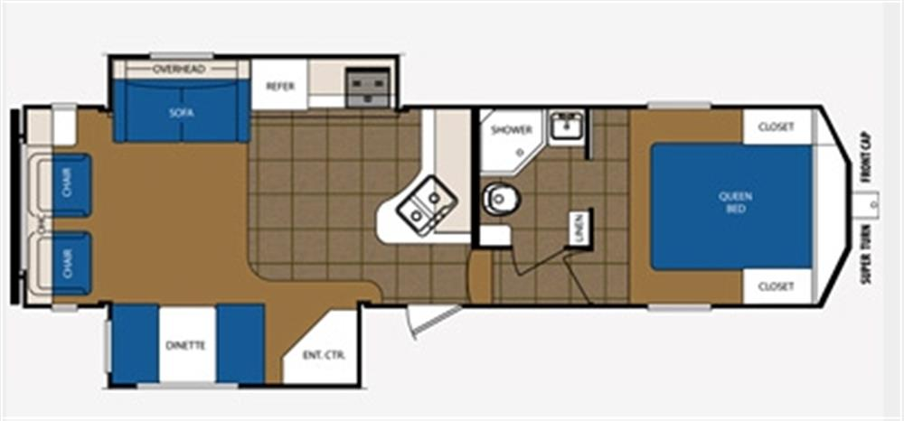 Open Road Fifth Wheel Floor Plans: Used 2014 Prime Time Avenger 528sgs Fifth-wheel For Sale