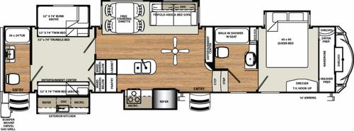 New 2017 Forest River Sandpiper 381RBOK Fifth Wheel For Sale