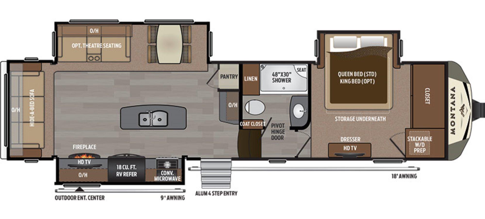 New 2017 keystone montana 3160rl fifth wheel for sale 1326240 for Montana floor plans