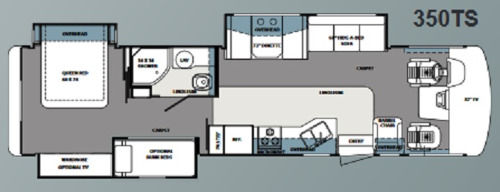 Floor Plan : 2010-FOREST RIVER-350TS