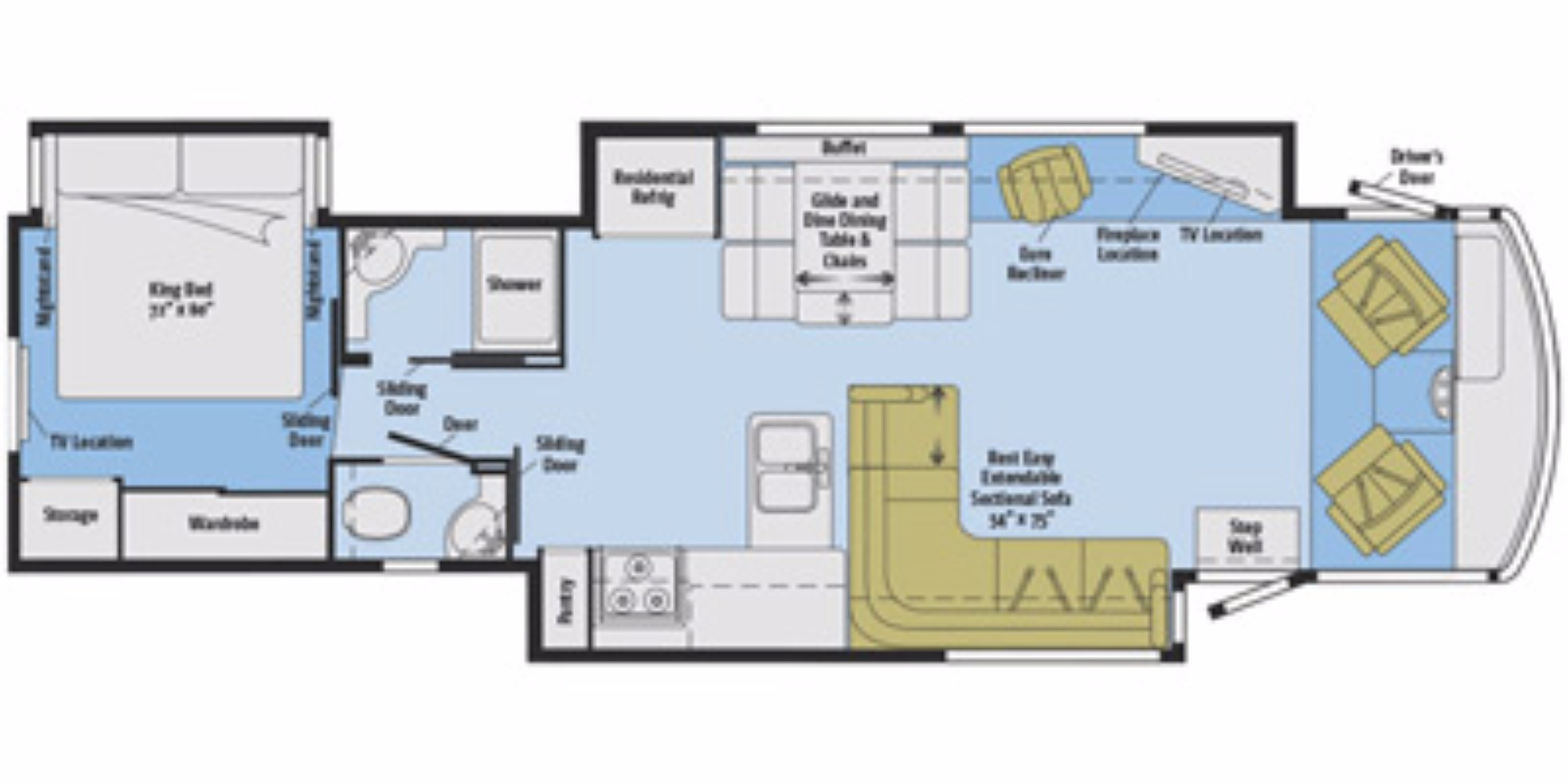 2016 winnebago suncruiser 38q camping world of syracuse for Floor plans for motorhomes