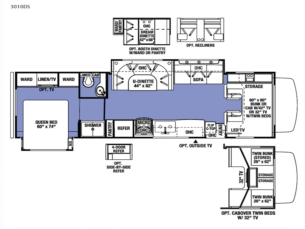 Forest River Motorhome Floor Plans: New 2016 Forest River Sunseeker 3010dsf Class C For Sale