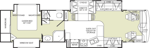 Floor Plan : 2005-FLEETWOOD-39L