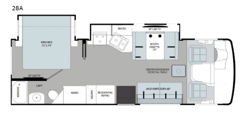 Floor Plan : 2020-HOLIDAY RAMBLER-28A