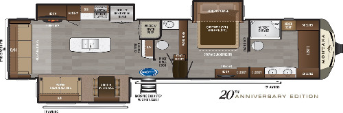 Floor Plan : 2020-KEYSTONE-3931FB