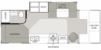 View Floor Plan for 2009 FOUR WINDS CHATEAU 25C
