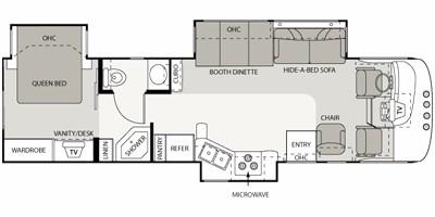 View Floor Plan for 2008 FOUR WINDS HURRICANE 34N