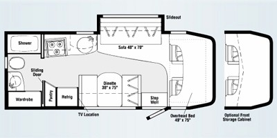 View Floor Plan for 2008 ITASCA NAVION 24H