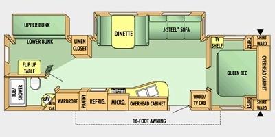 View Floor Plan for 2008 JAYCO JAY FLIGHT 30BHDS