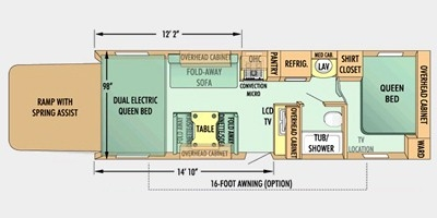 View Floor Plan for 2008 JAYCO OCTANE ZX T26Y