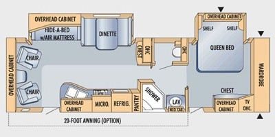View Floor Plan for 2009 JAYCO EAGLE 320RLDS
